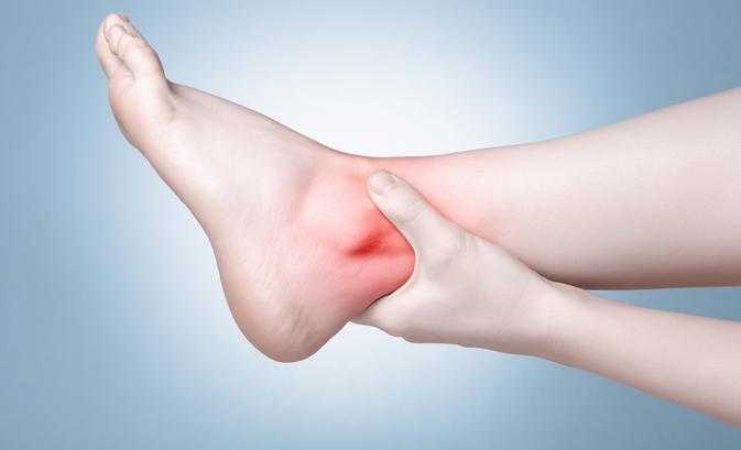 a láb ízületének gyulladása.